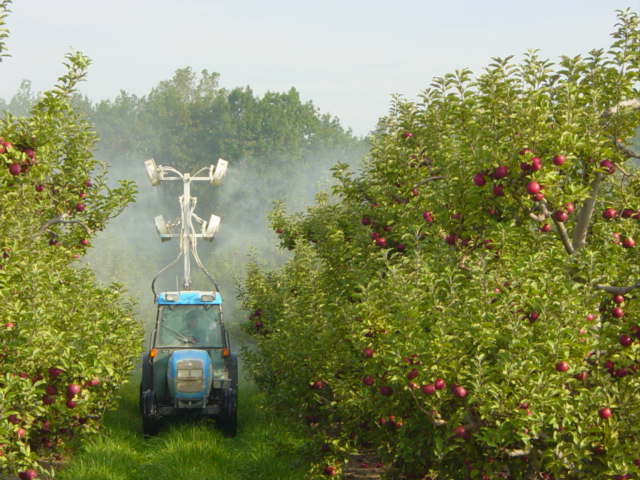 Modern Farm Equipment, Including New Sprayers, For All Necessary Orchard  Management.